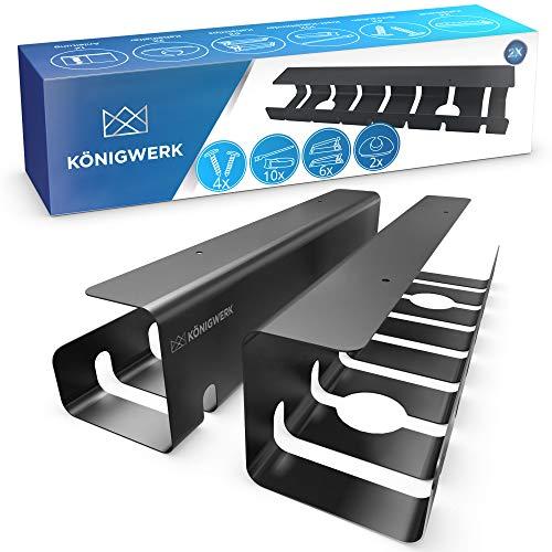 Königwerk® Kabelkanal Schreibtisch fürs Kabel...