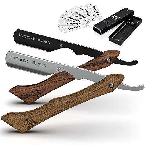 Anthony Brown® Rasiermesser Holz in Schwarz oder...