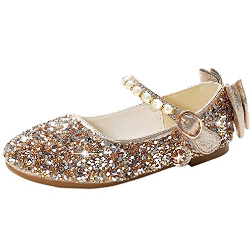 YOSICIL Mädchen Prinzessin Schuhe Flache...