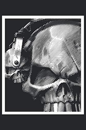 Musik Totenkopf mit Kopfhörer Notizbuch: Format:...
