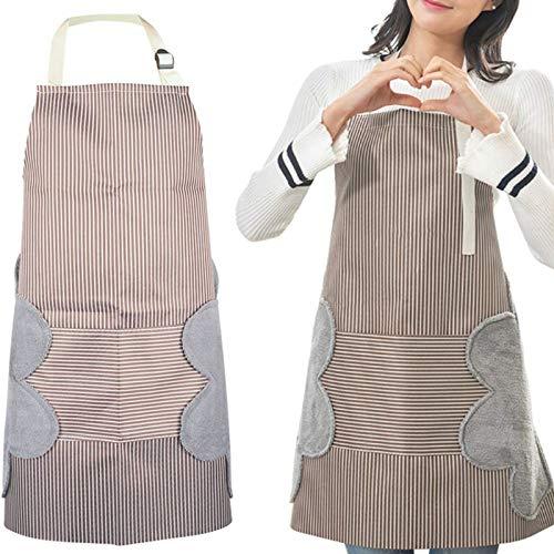 Nuluxi Wasserfest Küchenschürze mit Tasche Extra...