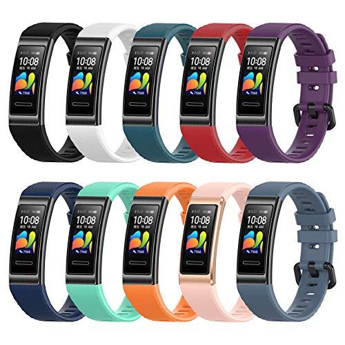 MIJOBS 10-teilige Armbänder für Huawei Band 4...