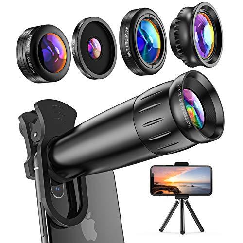 LIERONT Handy Objektiv Kamera Linse Kit,5 in 1...