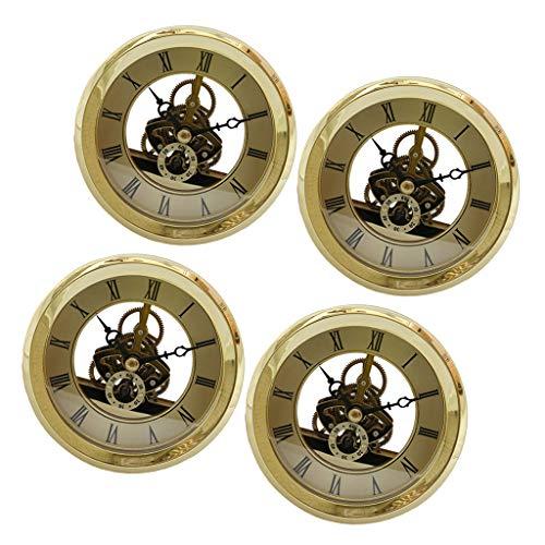 Baoblaze 4er Quarzuhr Tischuhr Uhr Einfügen DIY...