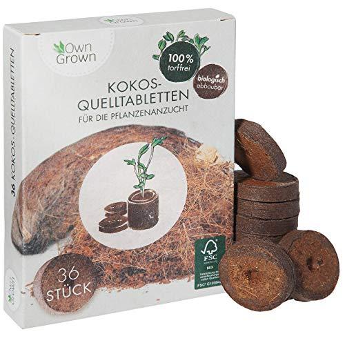 Kokos Quelltabletten mit Nährstoffen – 36...