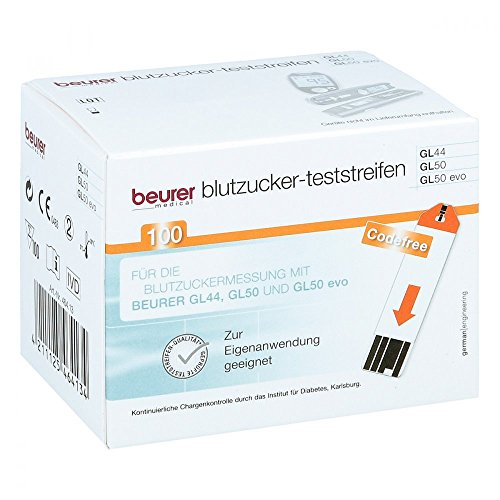 Beurer Blutzuckerteststreifen GL44 und GL50, 100...