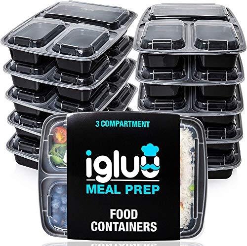 [10er Pack] 3-Fach Meal Prep Container Von Igluu -...