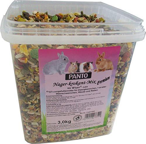 Panto Nagerfutter, Nager-Krokant-Mix Premium 3 kg,...