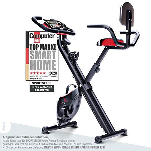 Sportstech Fitness Heimtrainer mit LCD-Konsole &...