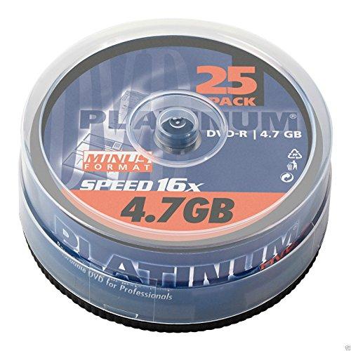 Platinum DVD-R 25er Spindel 16x Speed DVD-Rohlinge...