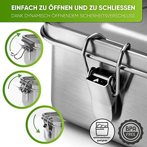 Blockhütte. Premium Edelstahl Brotdose I 800ml I...