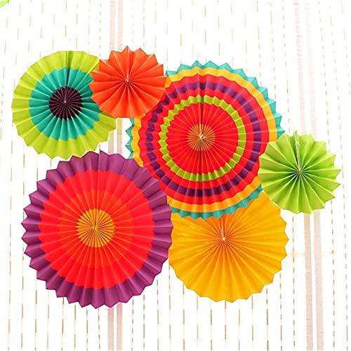 QFDM DIY Dekoration Pappe Papier Blume Fan...