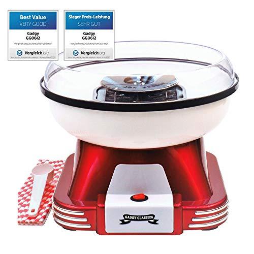 Gadgy ® Zuckerwattemaschine für Zuhause | Retro...