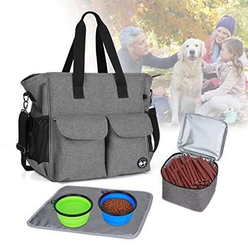 Teamoy Reisetasche für Hundezubehör, Haustier...