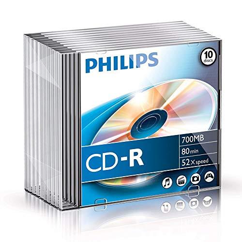 Philips CD-R Rohlinge (700 MB Data/ 80 Minuten,...