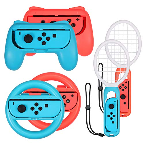 Switch Zubehör Set - 2X Tennisschläger und...
