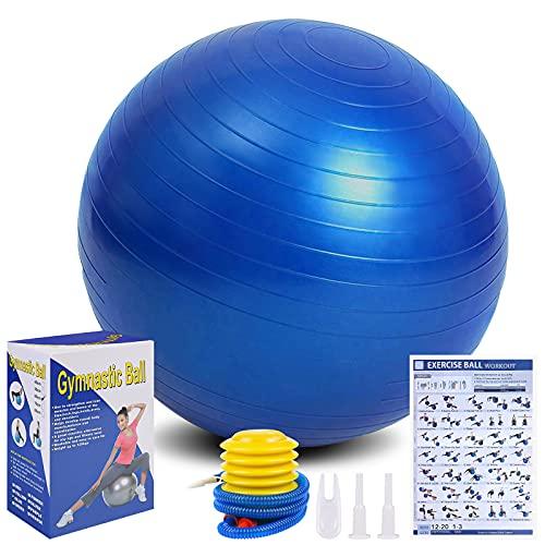 Flintronic Gymnastikball mit aufblasbarer...