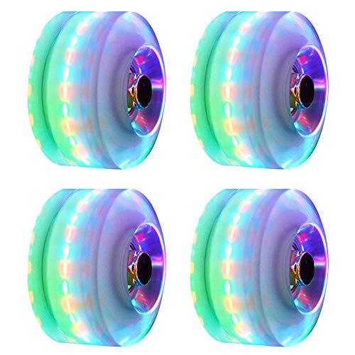 4 LED Leuchtrollen für Quad Skaten, 5 Farben...