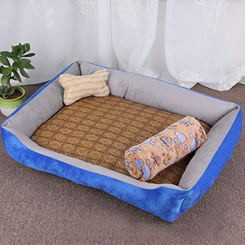 Qiuge Hundekatze Bett Winter weiche warm bequeme...