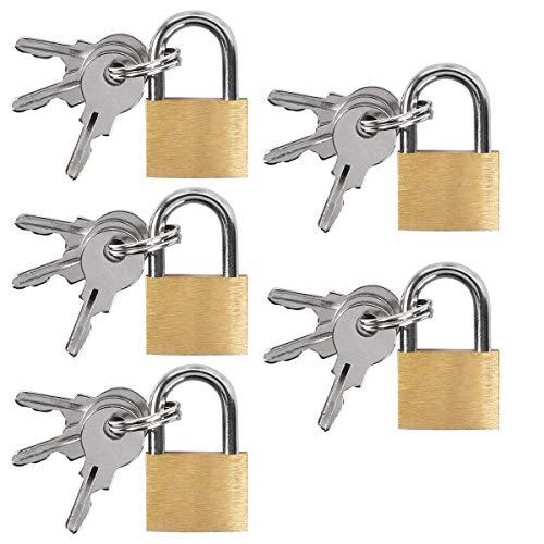 UCEC 5x Mini Vorhängeschlösser mit Schlüssel,...