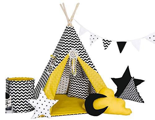 Golden Kids Kinder Spielzelt Teepee Tipi Set für...