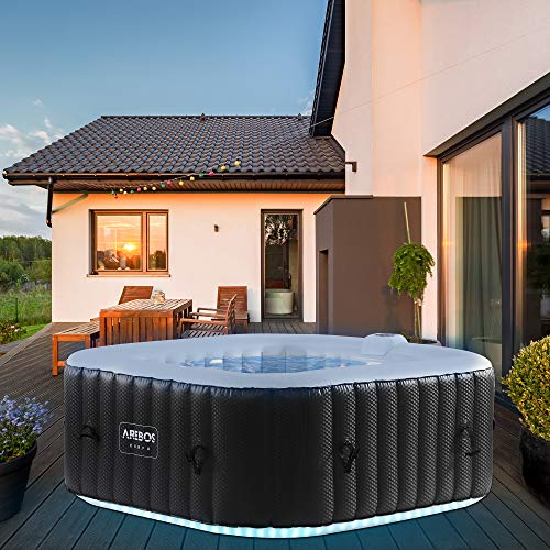 Arebos Whirlpool mit LED-Beleuchtung   6 Farben  ...