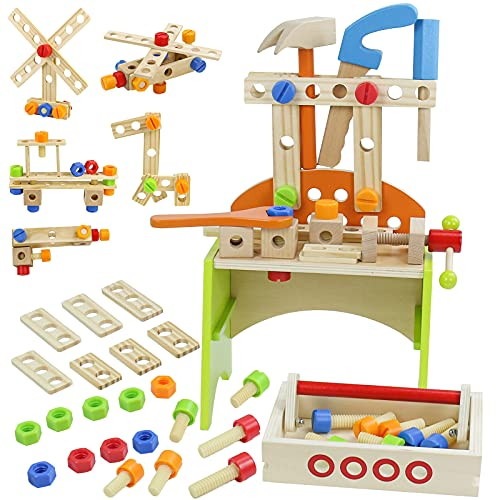 Werkbank Kinder Holz Spielzeug ab 3 4 5 6 Jahre...