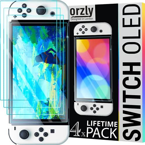 Orzly Displayschutzfolie für Nintendo Switch Oled...
