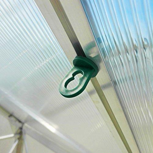 60x Gewächshausclips - Stabile Pflanzenhalter...
