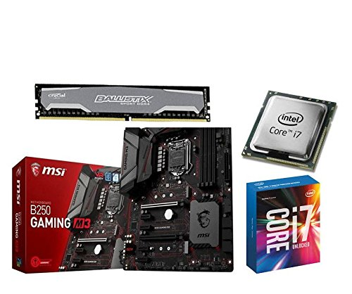 Aufrüstkit MSI B250 Gaming M3+i5-7700+16GB Ballis...