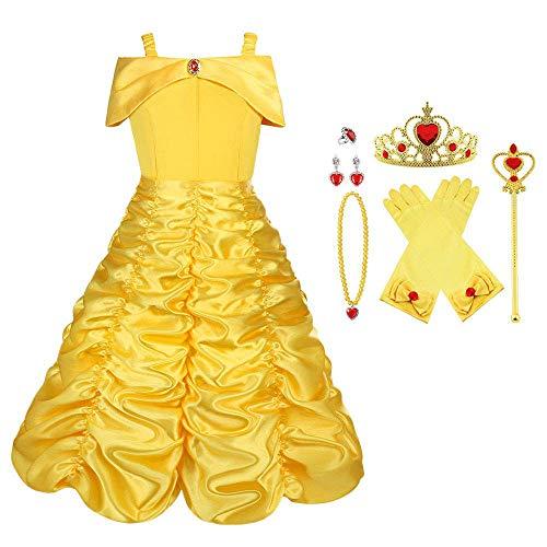 Viclcoon Prinzessin Kostüm Mädchen, Belle...
