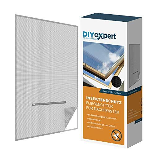 DIYexpert Fliegengitter für Dachfenster 140 x 170...
