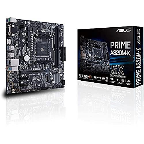 Asus PRIME A320M-K Mainboard Sockel AM4 (uATX, AMD...