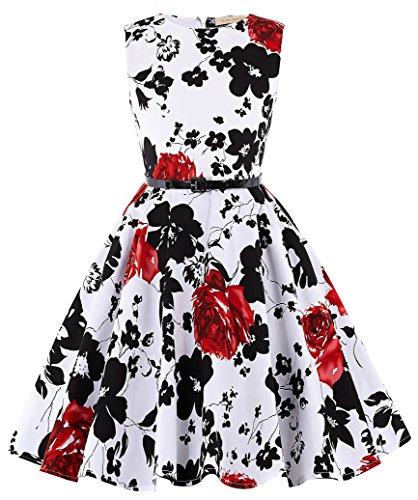 Kate Kasin Maedchen Retro Kleid Aermellos Kleid...