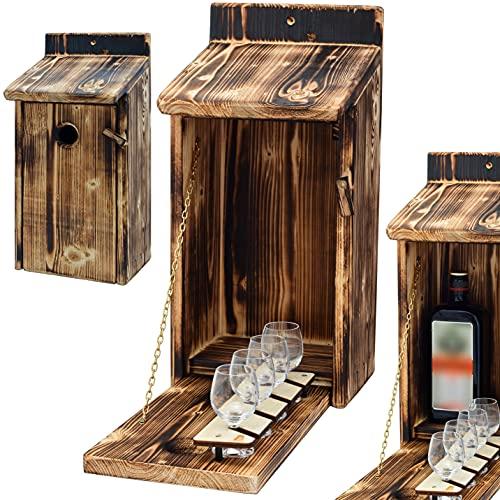 Alcohol Cage® - Holz Vogelhaus mit Platz für...