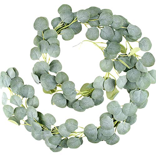 EKKONG Eukalyptus Girlande Künstlich Pflanze,...
