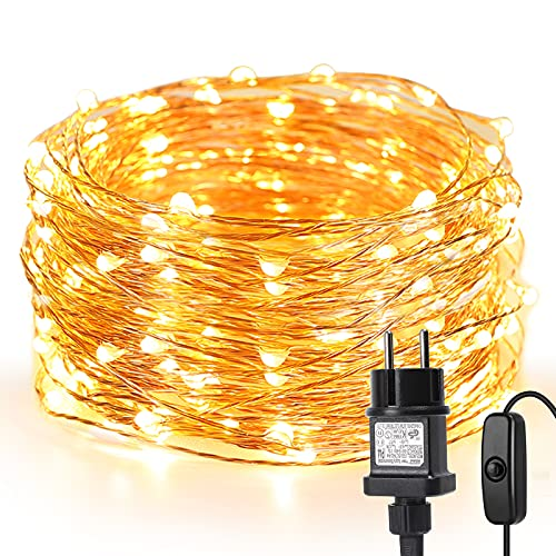 LE 10M LED Lichterkette Draht aus Kupferdraht, 100...
