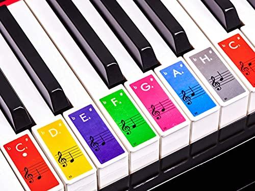 Premium Aufkleber für Klaviertasten   Klavier...
