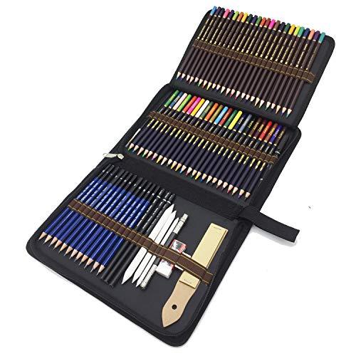 72 Stück Bleistifte Set, Skizzieren Zeichnen...