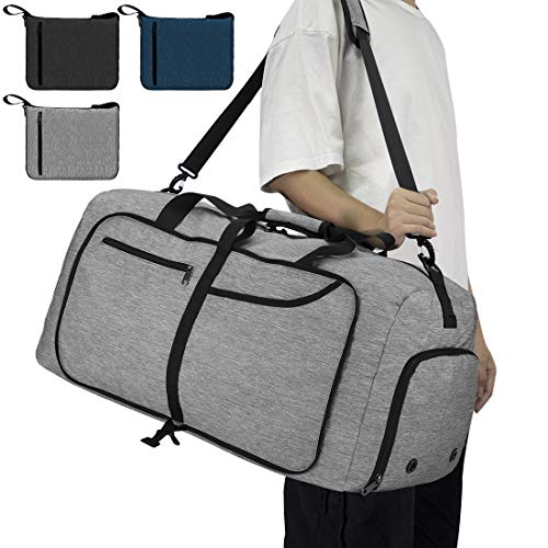 NEWHEY Reisetasche Groß 65L Faltbare Reisetaschen...