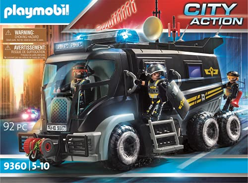 Playmobil City Action 9360 SEK-Truck mit Licht-...