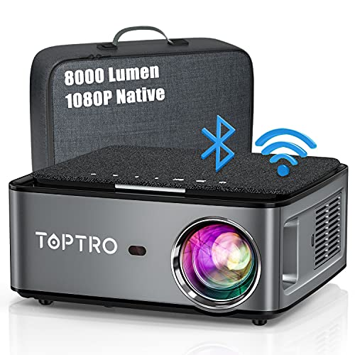 Beamer, 8000 Lumen Beamer Full HD, WiFi Bluetooth...