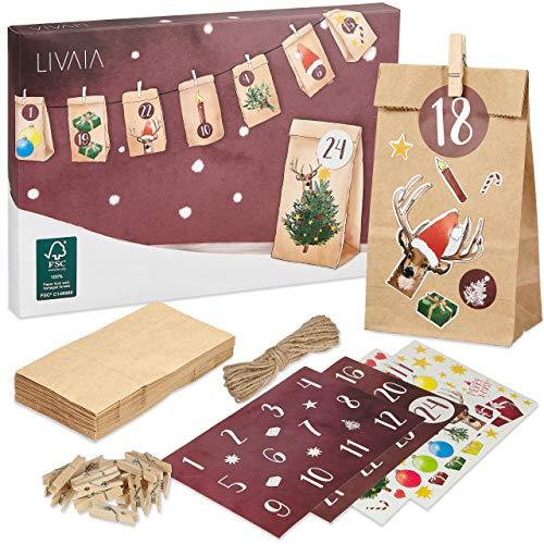 LIVAIA Adventskalender zum Befüllen: Schöner...