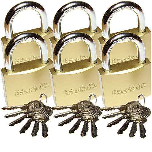 6x Vorhängeschloss Schlösser mit 36 Schlüsseln...