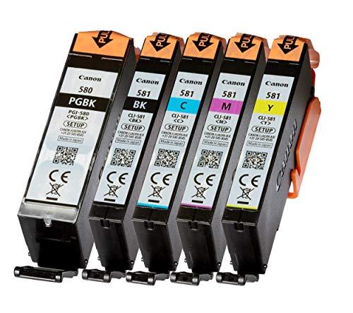 5 Original Setup Canon PGI580 CLI581 PGI-580...