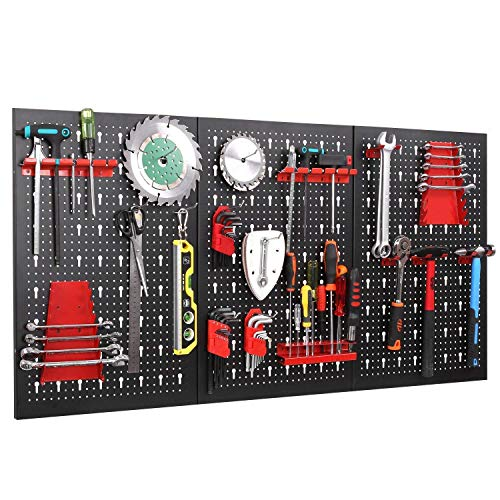 FIXKIT Werkzeuglochwand aus Metall mit 17 teilge...