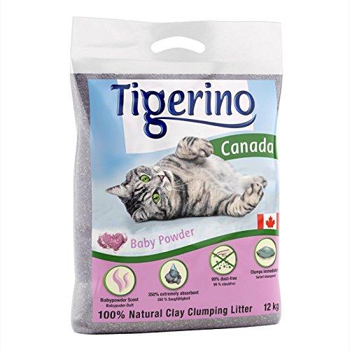 Tigerino Doppelpack Canada Katzenstreu, Babypuder...