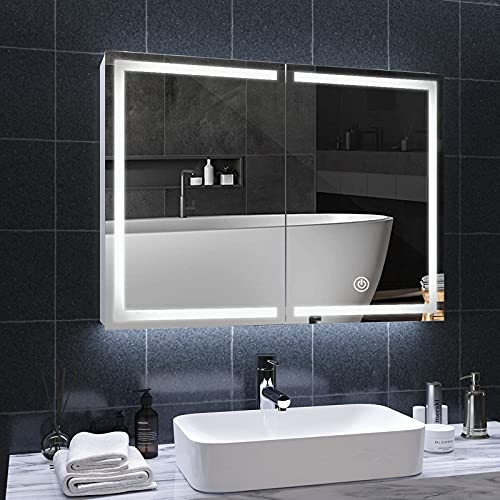 DICTAC spiegelschrank Bad mit LED Beleuchtung und...