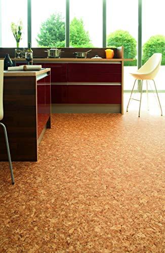 PVC Bodenbelag Vinylboden in Korkoptik, DIN-A4...