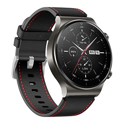 22mm Lederarmband für Huawei Uhr GT 2 PRO Armband...